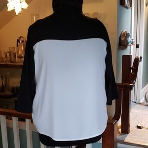 Chico's black and white blouse
